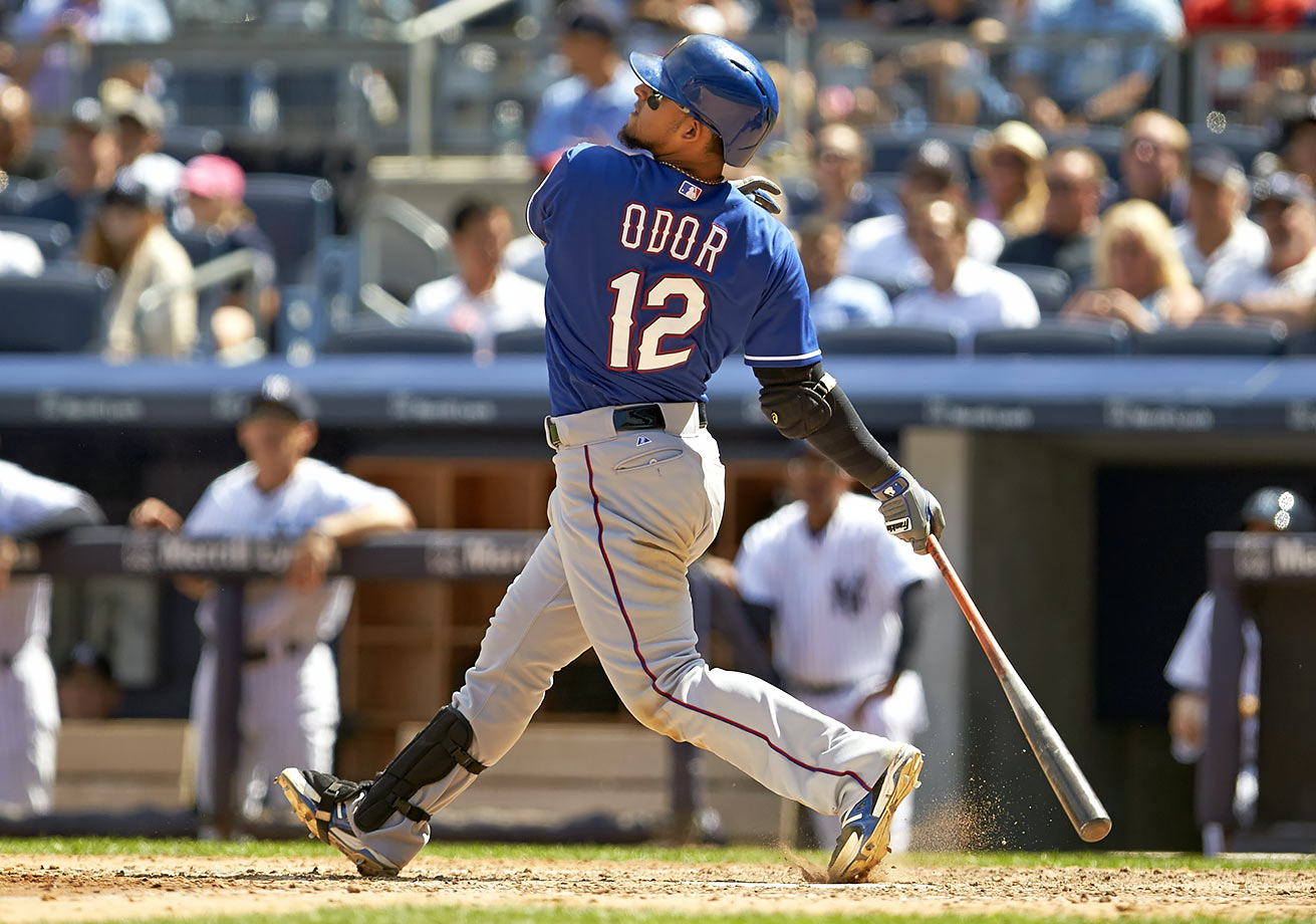 The Rangers signed the younger brother of second baseman Rougned Odor, a shortstop whose name is also Rougned Odor.