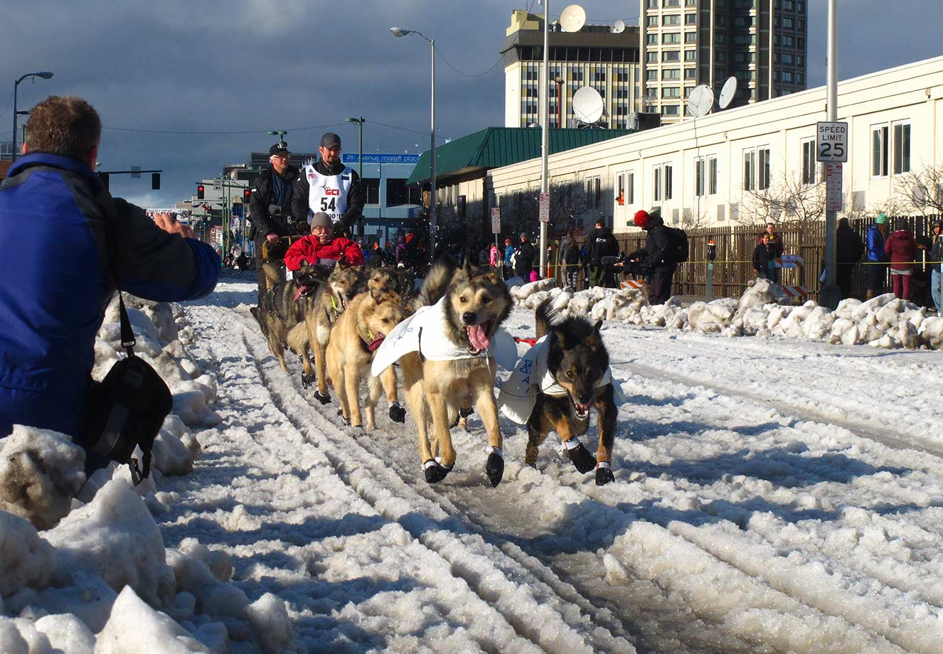 The course of the Iditarod dogsled race in Alaska had to be moved for only the second time in 43 years because of a snow shortage.