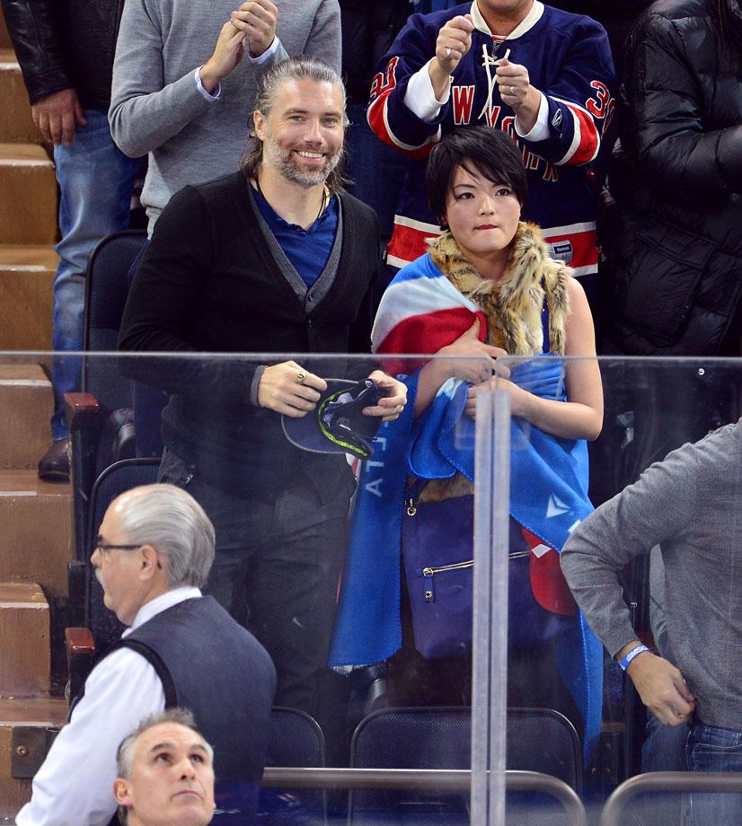 March 26, 2015: New York Rangers vs. Philadelphia Flyers at Madison Square Garden in New York City