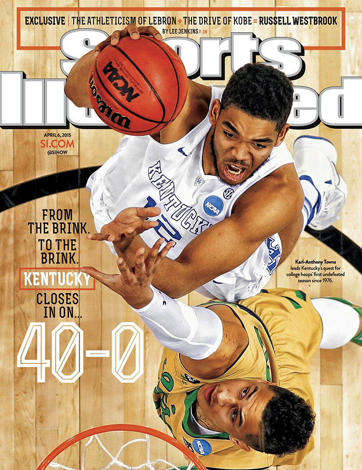 The undefeated Kentucky Wildcats lost in the Final Four to Wisconsin, 71-64, on April 4, 2015.