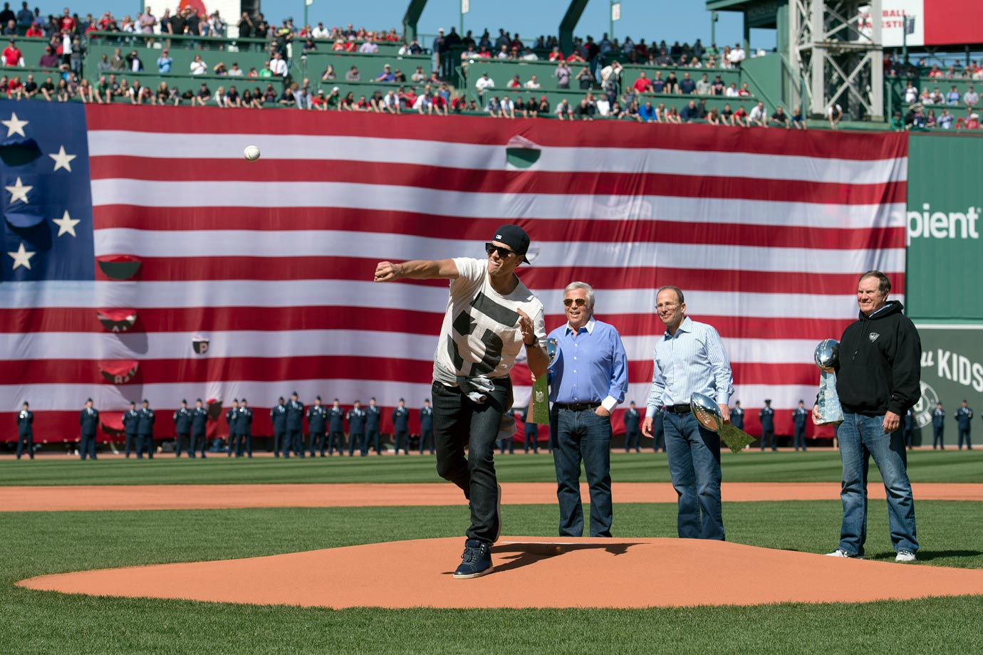 April 13 at Fenway Park in Boston