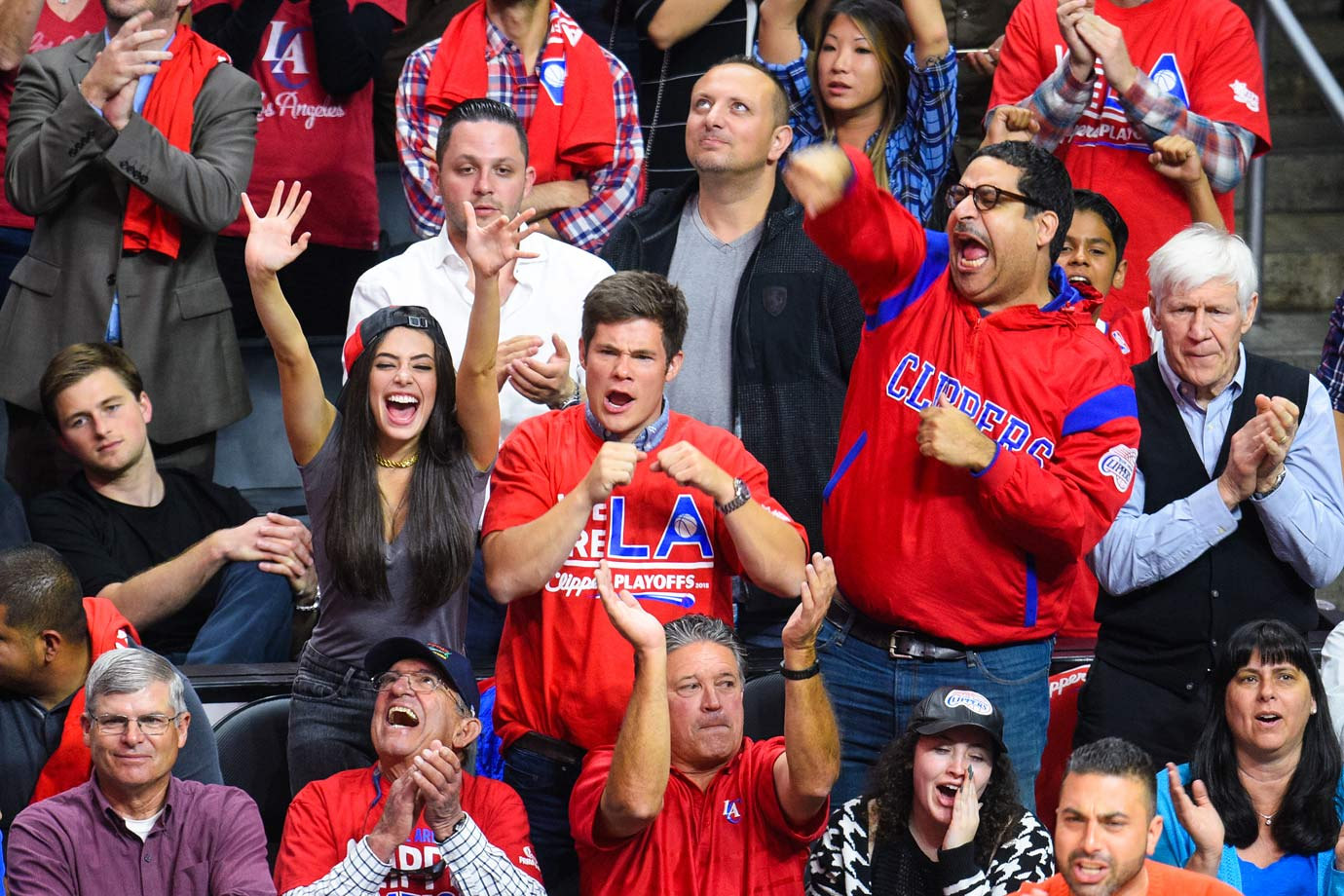 April 22, 2015: Los Angeles Clippers vs. San Antonio Spurs at Staples Center in Los Angeles — Western Conference Quarterfinals, Game 2