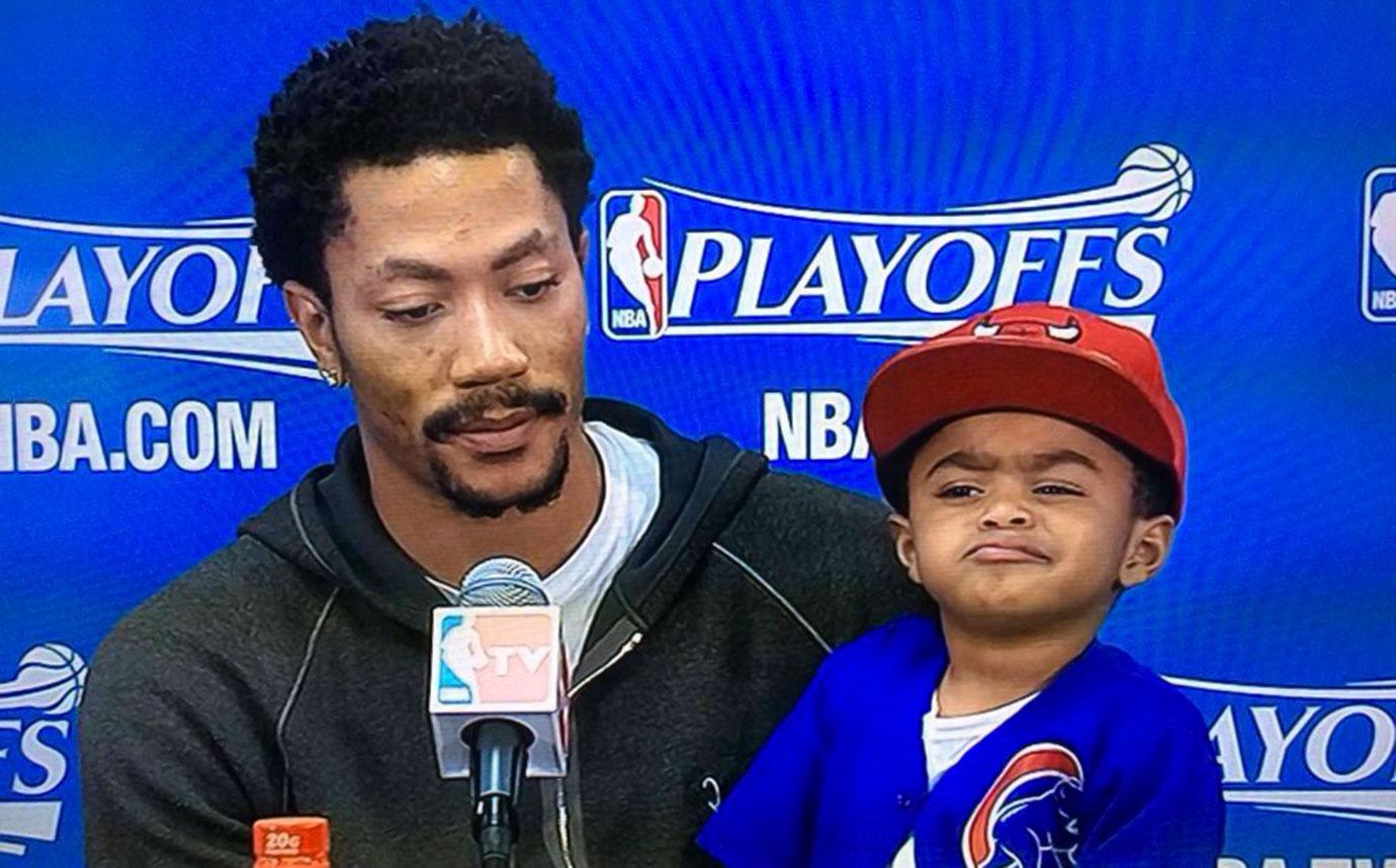 Derrick Rose and son PJ