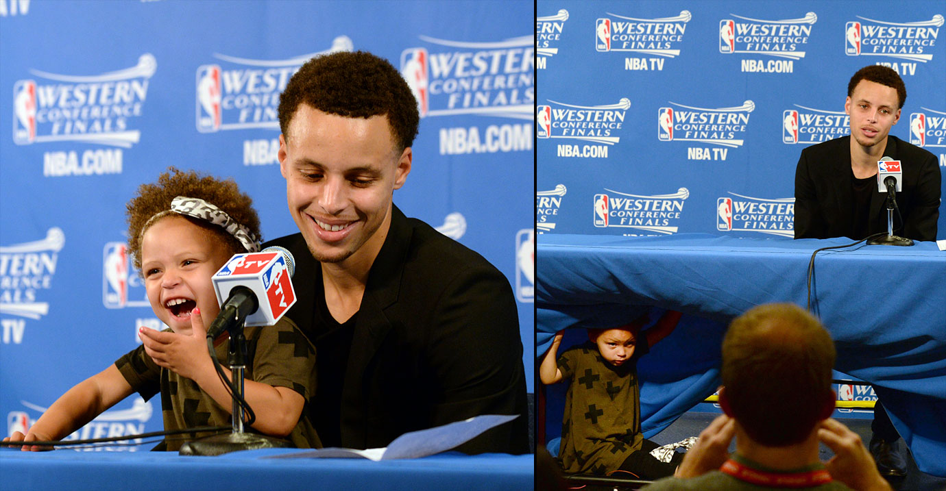 Stephen Curry and daughter Riley