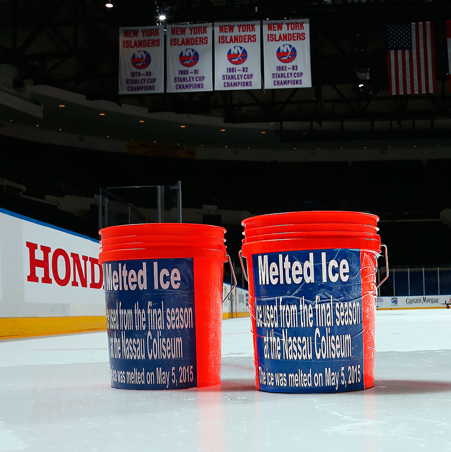"The Islanders offered half-ounce vials of ""melted ice"" from Nassau Coliseum—their home for 43 years—for $20 and sold out in three hours."
