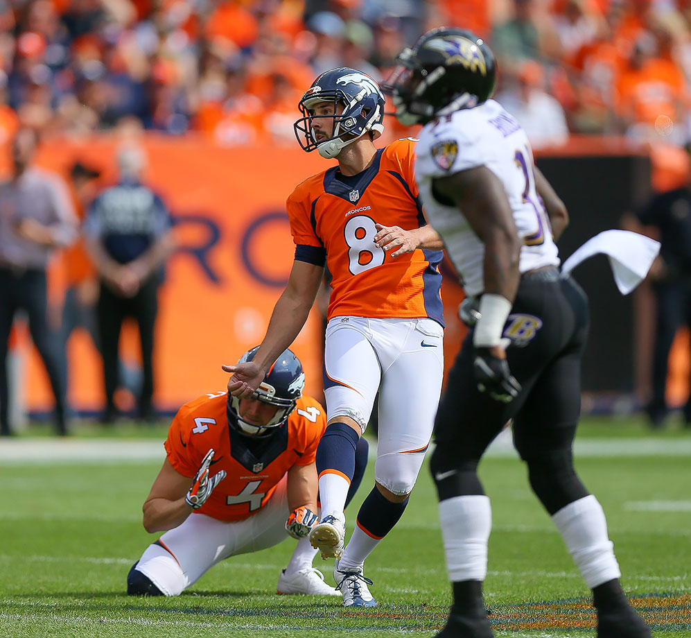 As the NFL would soon find out, the 2015 Denver Broncos were led not by a potent passing attack, but by their defense. There were no offensive touchdowns scored in this game as both the Baltimore Ravens and Broncos had one interception return for a touchdown. Broncos corner Aqib Talib's pick-six gave Denver a 16-13 lead, which it would hang onto for the rest of the game to win 19-13. Broncos kicker Brandon McManus hit four field goals, including two from more than 55 yards.