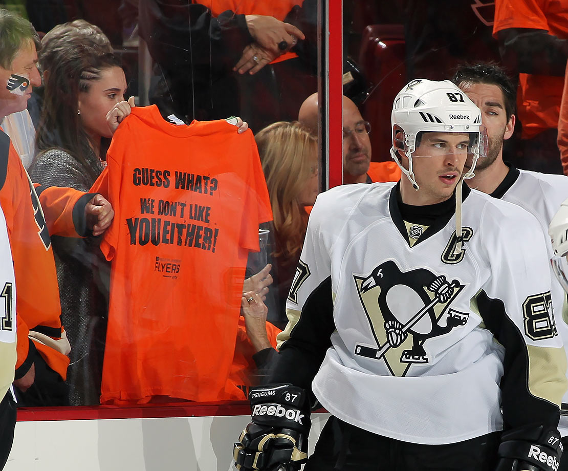 "A group of Flyers fans have started a GoFundMe site aimed at buying the cross-state, NHL-rival Penguins, since Philly ""already figuratively owns"" the Pens."