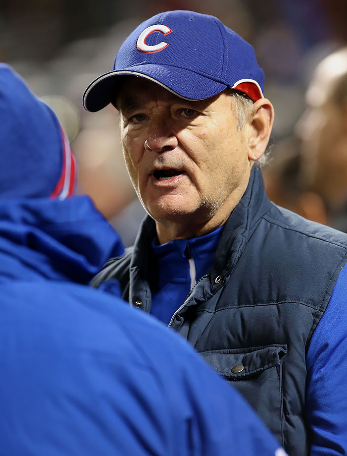 Bill Murray attends Game 2 of the NLCS between the Chicago Cubs and the New York Mets on Oct. 18, 2015 at Citi Field in Flushing, N.Y.
