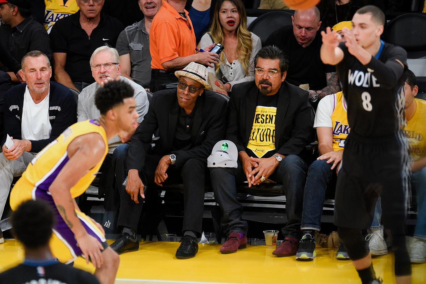 Oct. 28, 2015 — Lakers vs. Kings at Staples Center in Los Angeles