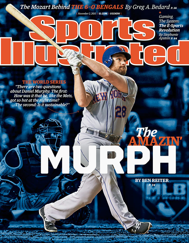 Daniel Murphy set a major league record with homers in six straight postseason games and was batting .421 with seven home runs and 11 RBI through 9 games headed into the World Series. Murphy proceeded to bat .150 (3-for-20) with zero home runs and zero RBI, making two costly errors in Game 4, as the Mets lost to the Royals in five games.