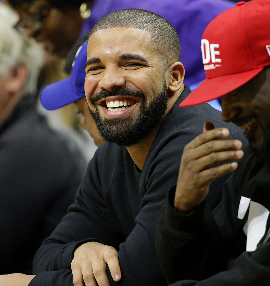 Drake Faces At NBA Games