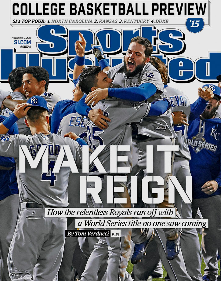 Rather than collapsing after losing the 2014 World Series to San Francisco, the Royals topped the N.Y. Mets in five games for their first World Series title since 1985. They Royals were the Comeback Kids this past October, winning seven postseason games after trailing by multiple runs – two more wins than any other team had in a single postseason, according to the Elias Sports Bureau.