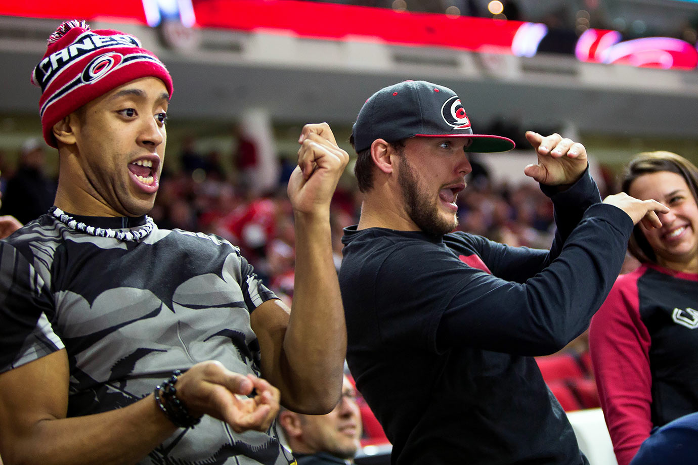 Carolina Hurricanes fans dance like nobody's watching, which must be easy at PNC Arena in Raleigh — lowest in NHL attendance.