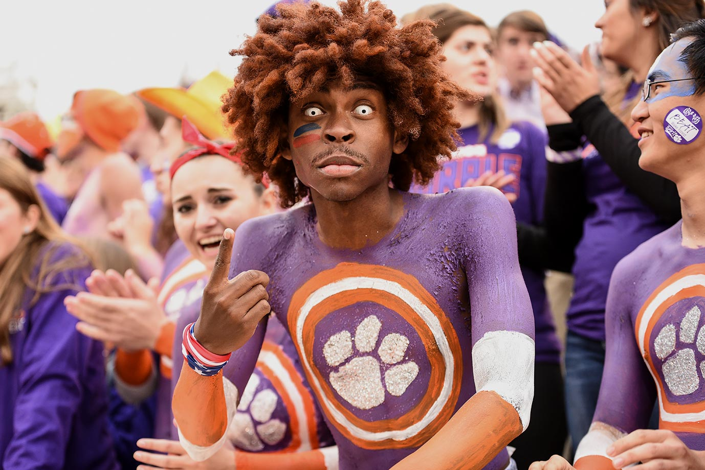 Body paint is usually enough for most Clemson fans, but sometimes you need to take it up a notch.