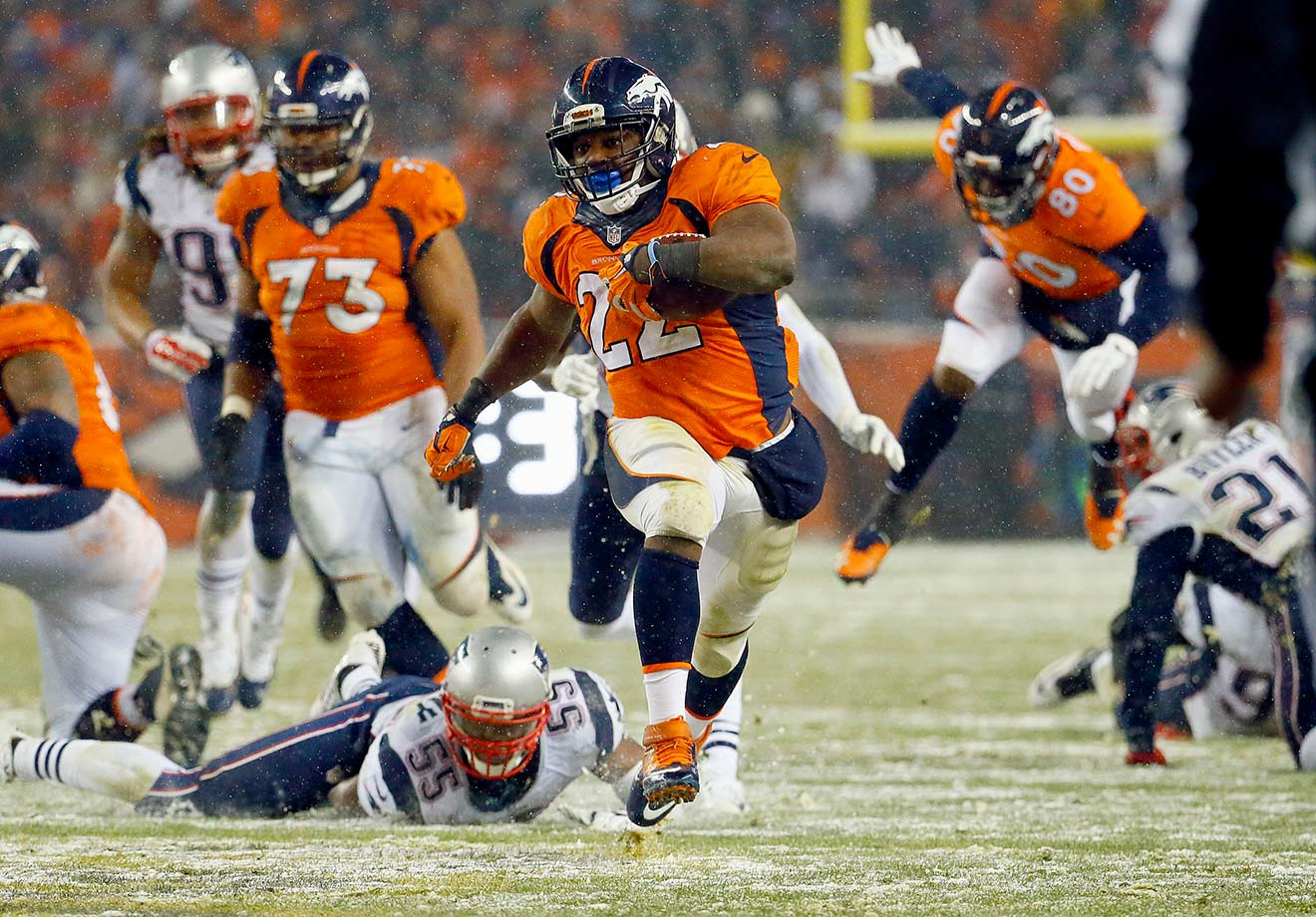 Osweiler held his own against Tom Brady and the New England Patriots, throwing for 270 yards, one touchdown and one interception. After falling in a 14-0 hole early in the second quarter, Denver relied on its running game to chip away at the Patriots' lead. With a 1:09 left, Osweiler connected with receiver Andre Caldwell to give the Broncos a three-point lead. But the Patriots tied it as time expired on a Stephen Gostkowski field goal, sending it to overtime. In the extra period, Anderson won the game for the Broncos on a 48-yard touchdown scamper.