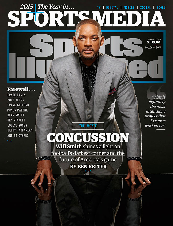 Will Smith appears on the cover of Sports Illustrated ahead of the Christmas Day release of the movie Concussion.
