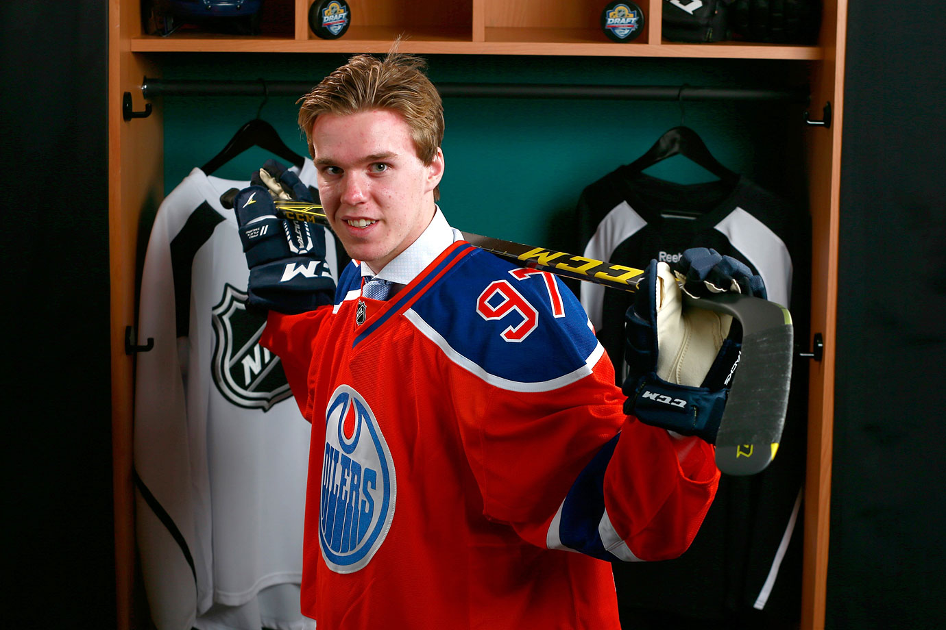 <p>No player has entered the league with such hype since Sidney Crosby a decade ago. Drafting first for the fourth time in the past six seasons, the Oilers added a generational talent in Connor McDavid. The dominant center scored 44 goals and 76 assists for 120 points in just 47 games with the Erie Otters in 2014-15, leading his team to the OHL finals while scoring 21 goals and 28 assists in just 19 playoff games. — Notable picks: No. 2: Jack Eichel, C, Buffalo Sabres | No. 3: Dylan Strome, C, Arizona Coyotes</p>