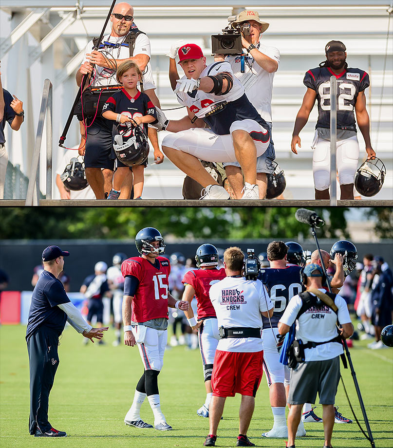 Some of the issues covered: Brian Hoyer named starting quarterback over Ryan Mallett. Brian Cushing repeatedly vomits and Jadeveon Clowney returns to the field. J.J. Watt remains the focal point of the team.