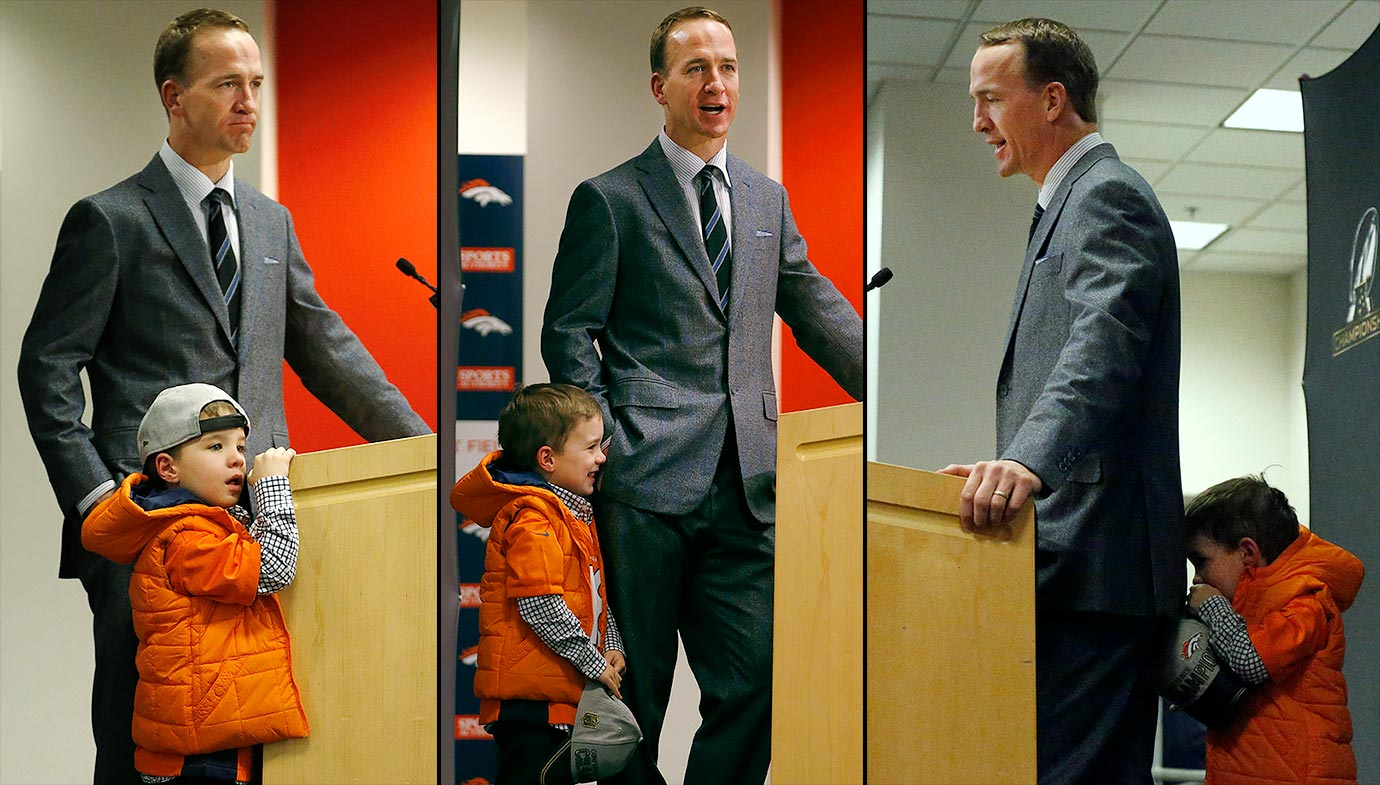 Peyton Manning and son Marshall