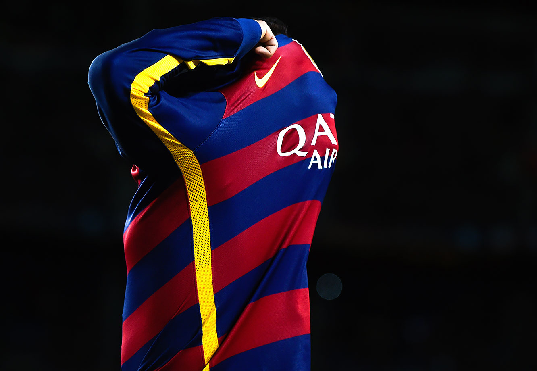Neymar reacts during FC Barcelona's La Liga match against Celta Vigo at Camp Nou in Barcelona, Spain.