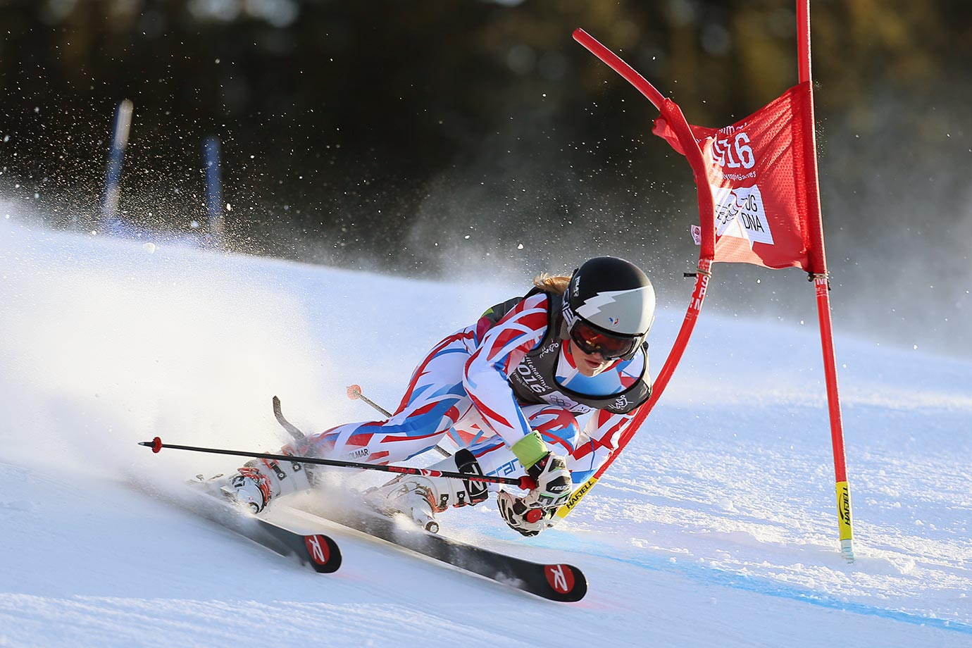 Camille Cerutti (FRA) competes in the Alpine Skiing Ladies Giant Slalom at the Hafjell Olympic Slope on Feb. 16, 2016 during the Winter Youth Olympic Games in Lillehammer, Norway.