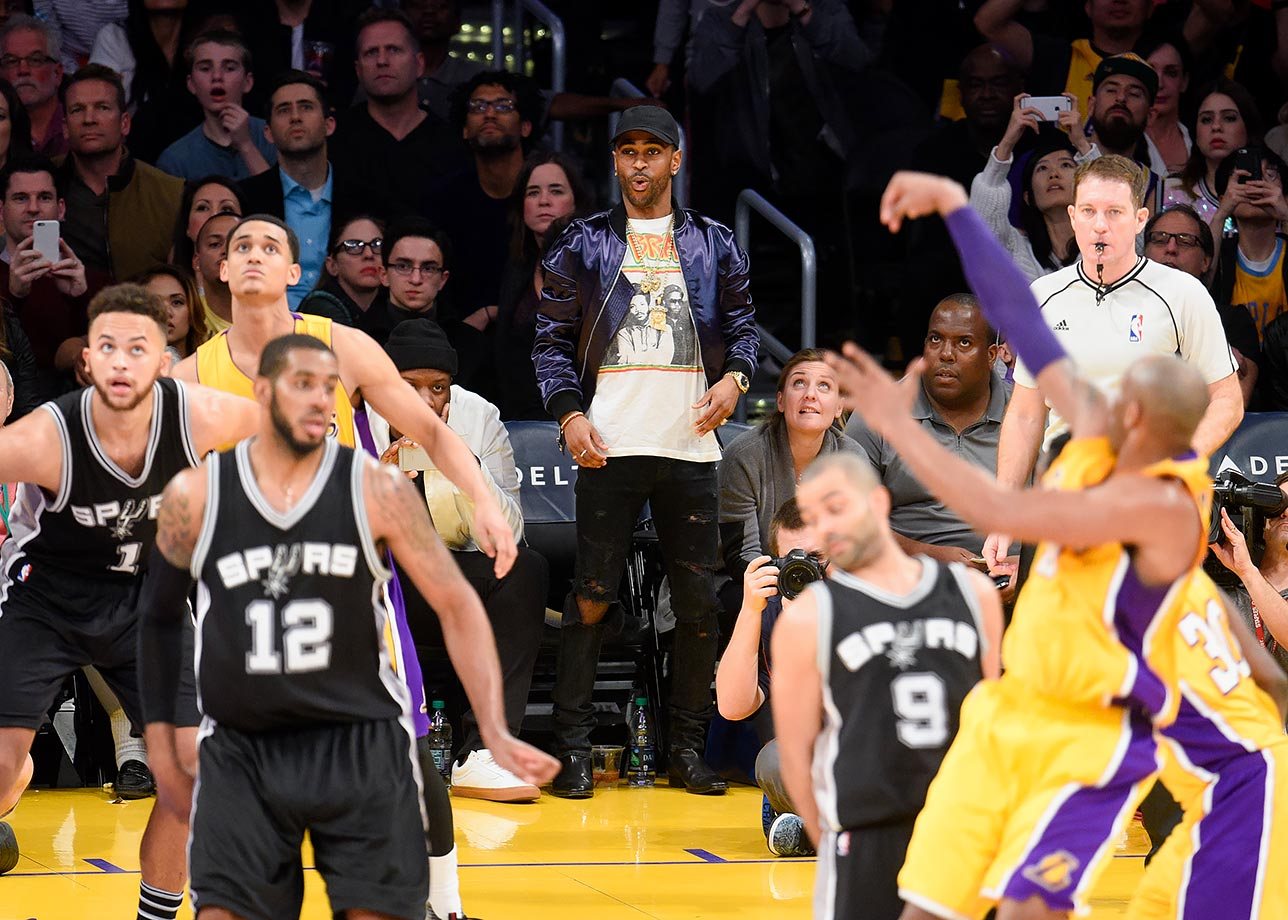 Feb. 19, 2016 — Lakers vs. Spurs at Staples Center in Los Angeles