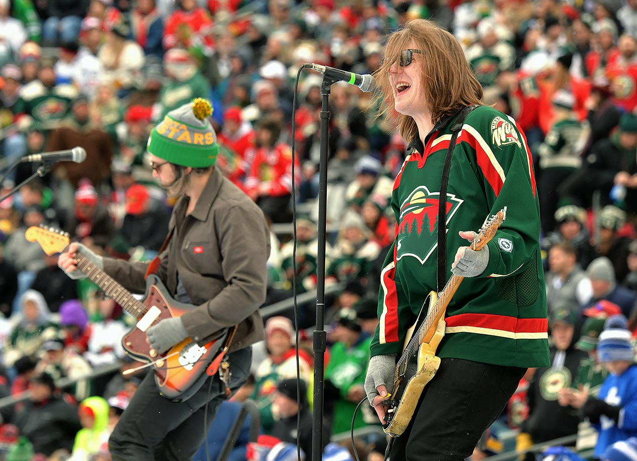 Minnesota Wild vs. Chicago Blackhawks (Stadium Series) on February 21, 2016 at TCF Bank Stadium in Minneapolis.