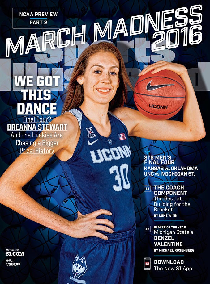 Connecticut star Breanna Stewart represents the women's tournament on her own cover — one of four regional March Madness covers.