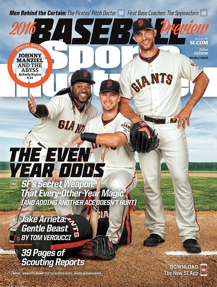 Though the Dodgers are projected to finish over the Giants, Johnny Cueto, Buster Posey and Madison Bumgarner are predicted to earn San Francisco a wild-card berth.