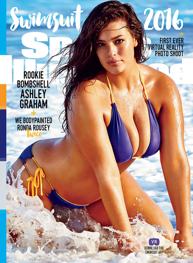 Rookie and body diversity advocate Ashley Graham landed one of three individual SI Swimsuit 2016 covers.