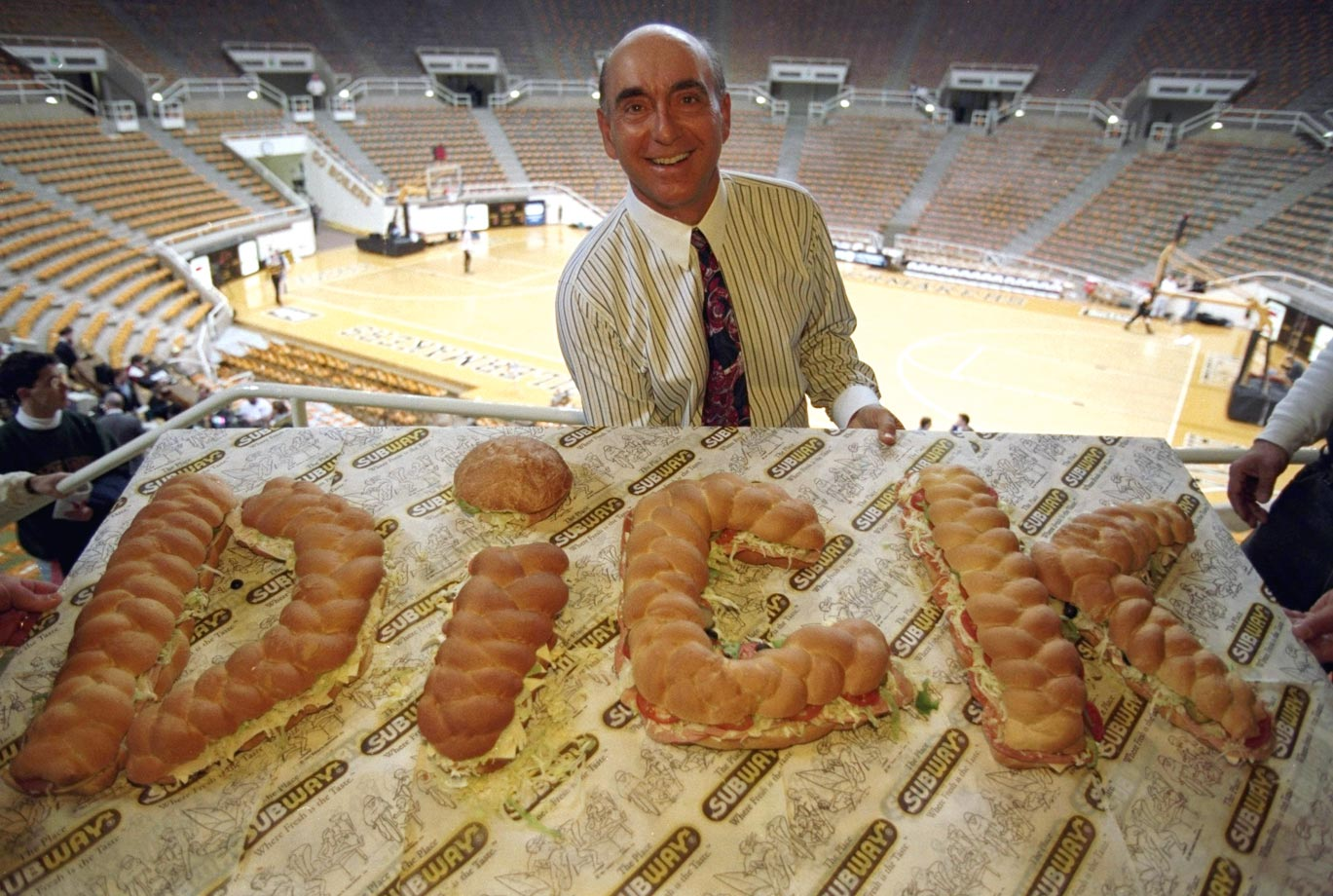 It's not easy to get beloved basketball broadcaster Dick Vitale to stop talking, but this customized Dickie V sandwich spread probably kept his mouth full for a while.