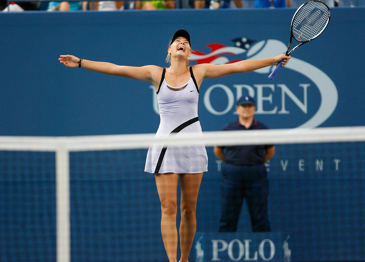 Sharapova was all smiles after knocking off No. 1 ranked Amelie Mauresmo 6-0, 4-6, 6-0 in the semifinals at the 2006 U.S. Open. She followed that up with a 6-4, 6-4 victory over second-seeded Justine Henin to claim her second Grand Slam title. The 19-year-old finished the year ranked No. 2 in the world.