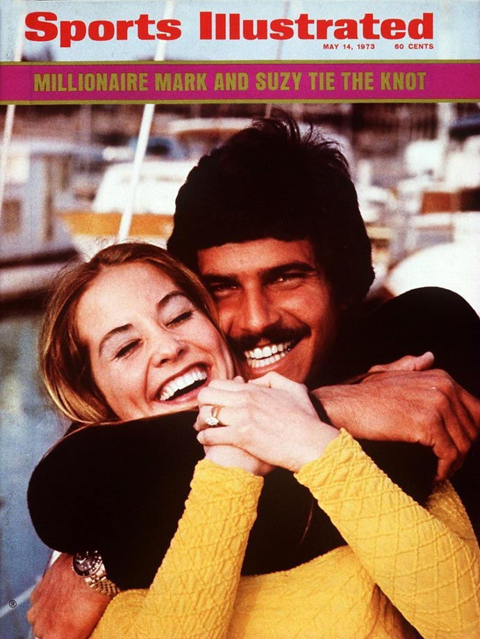 The Olympic swimmer and his fiancee, Susan Weiner, posed for a Sports Illustrated cover shot on their boat, Sumark 7. Spitz was less than a year removed from his record-setting performance at the Munich Olympics in 1972.