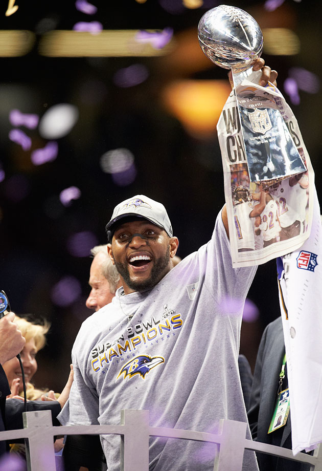 One of the fiercest defenders the NFL has ever seen, Lewis capped his illustrious career by raising the Vince Lombardi Trophy for the second time. His Credentials: 13-time Pro Bowl selection; 10-time All-Pro; Super Bowl XXXV MVP; 2,073 regular-season tackles and 41.5 sacks; Two-time AP Defensive Player of the Year winner (2000, 2003). Others in Consideration: Clay Matthews (2009, Green Bay); Alan Faneca (1998, Pittsburgh); Dana Stubblefield (1993, San Francisco); Joe DeLamielleure (1973, Buffalo)