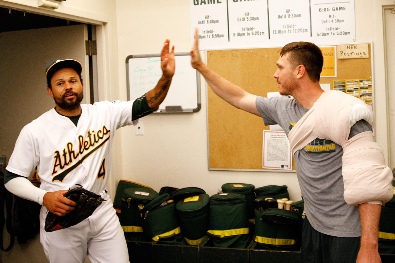 Highest salaries: Scott Kazmir ($13,000,000), Coco Crisp ($11,000,000)