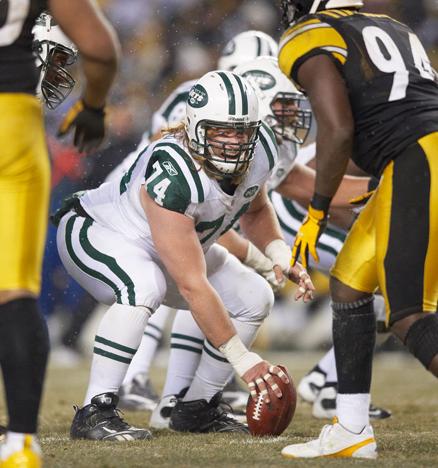 Mangold has, quite simply, been one of the league's best centers — not to mention one of the league's best linemen, overall — since the Jets selected him in Round 1 of the 2006 draft. His Credentials: 156 career regular-season starts, including 80 consecutive from 2006 to '11; seven-time Pro Bowler; three-time All-Pro selection. Others in Consideration: George Teague (1993, Packers), Hakeem Nicks (2009, Giants)
