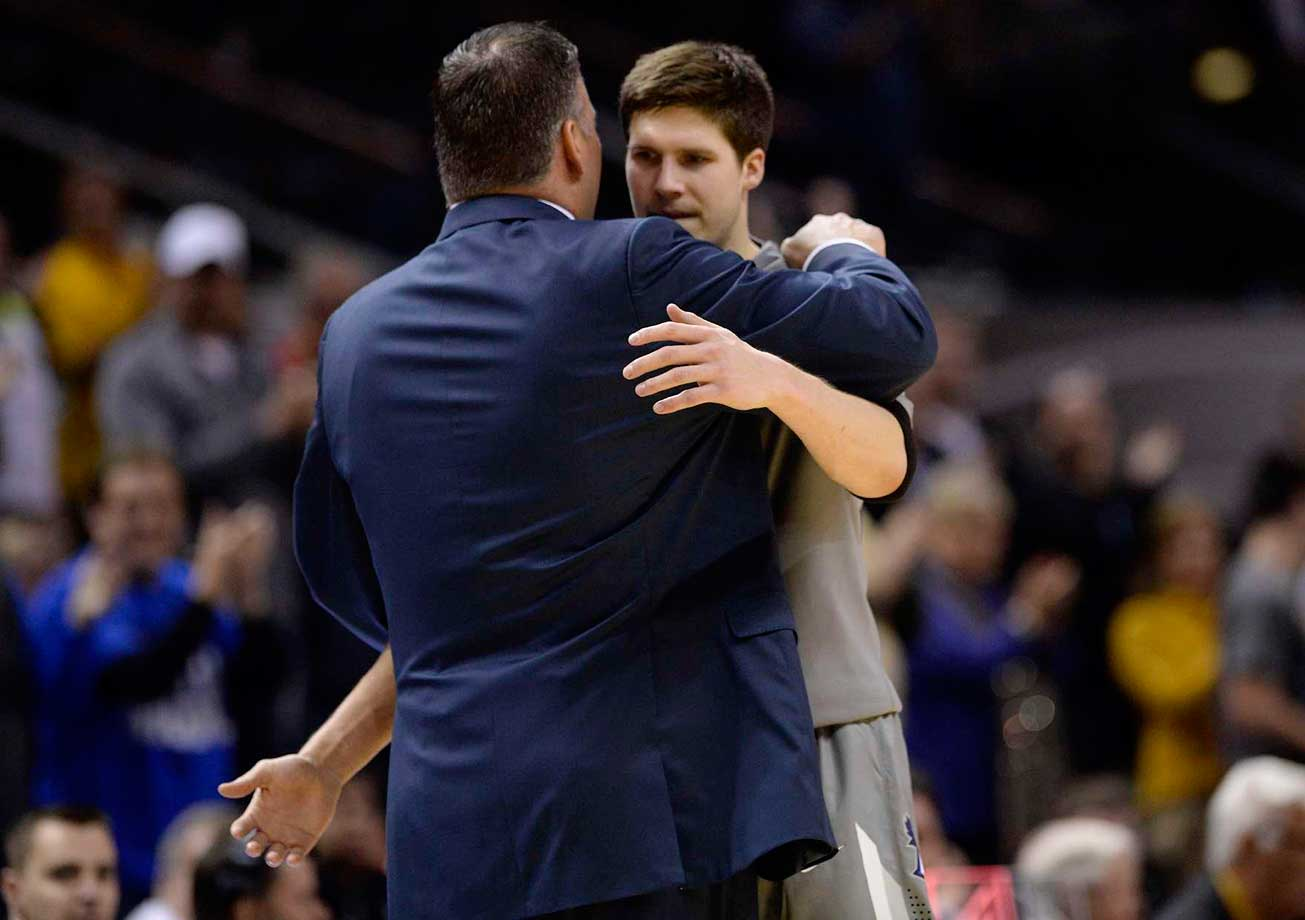 "Doug McDermott's college career came to a close on a clunker. But even a 30-point loss (to Baylor, in the third round of the NCAA tournament) couldn't tarnish his outstanding college career. McDermott finished his four years at Creighton with 3,150 points—good for fifth on the all-time NCAA scoring list. As McDermott was walking off the floor, he says he wasn't thinking about the score. ""I was just thinking...this would be the last time I'll be able to walk off the floor and give my dad a hug."""