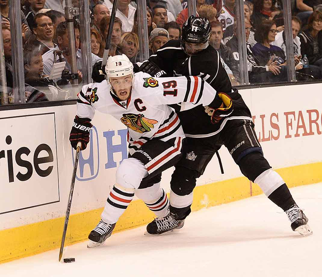 At 26, Toews is arguably the game's premier leader and winner. He's won two Stanley Cups and two Olympic gold medals and is recognized as one of the game's most complete two-way players. With 29 points in 22 postseason games, he was voted the Conn Smythe Trophy winner after the Blackhawks' title run in 2010.