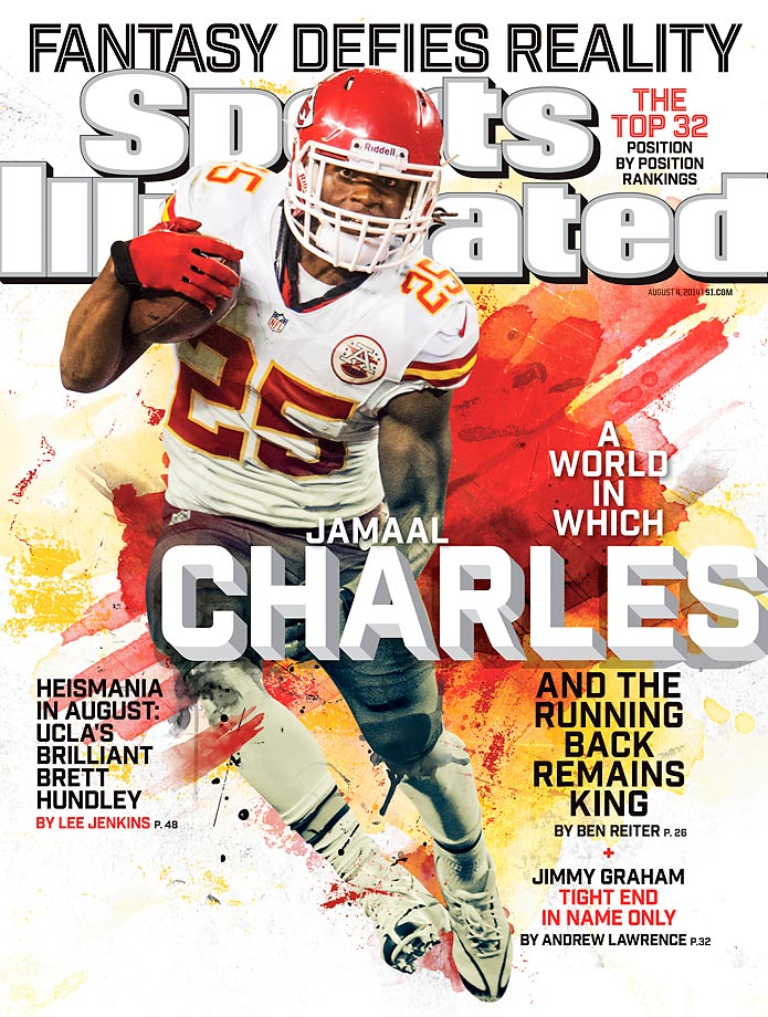 August 4, 2014 | Jamaal Charles, SI's No. 1 fantasy running back, accounted for 35 percent of the Kansas City Chiefs offense, while leading the team in rushing and receiving.