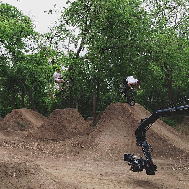 @ryannyquist and @chase_hawk getting some air for the crew and warming up for @xgames. #xgamesatx #xgamesaustin