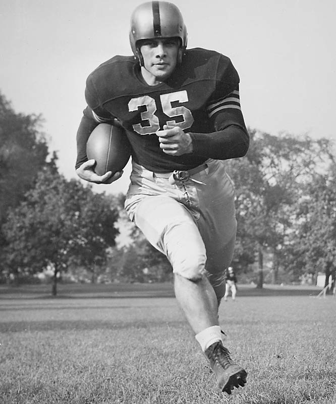 His Mr. Inside teamed with Glenn Davis (Mr. Outside) to form one of the great running back tandems. Blanchard never lost a game as a collegian (27-0-1) — his only blemish was a 0-0 tie in 1946 against Notre Dame — and in 1944 he won the Heisman Trophy and Maxwell. — Runner-up: Tank Younger, RB, Grambling (1945-48)
