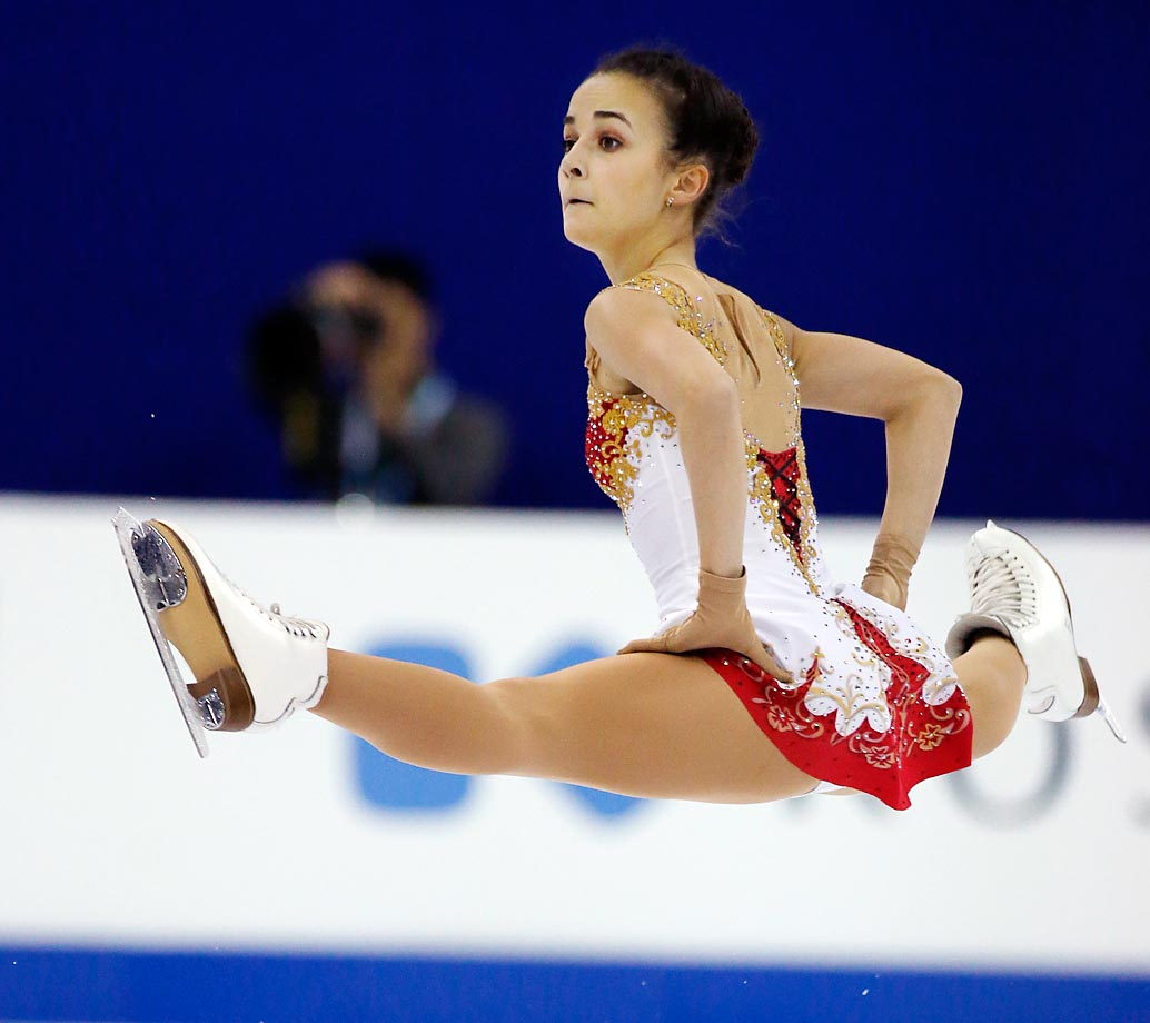 Ivett Toth of Hungary performs her routine during the Ladies Short Program at the ISU World Figure Skating Championship in Shanghai.