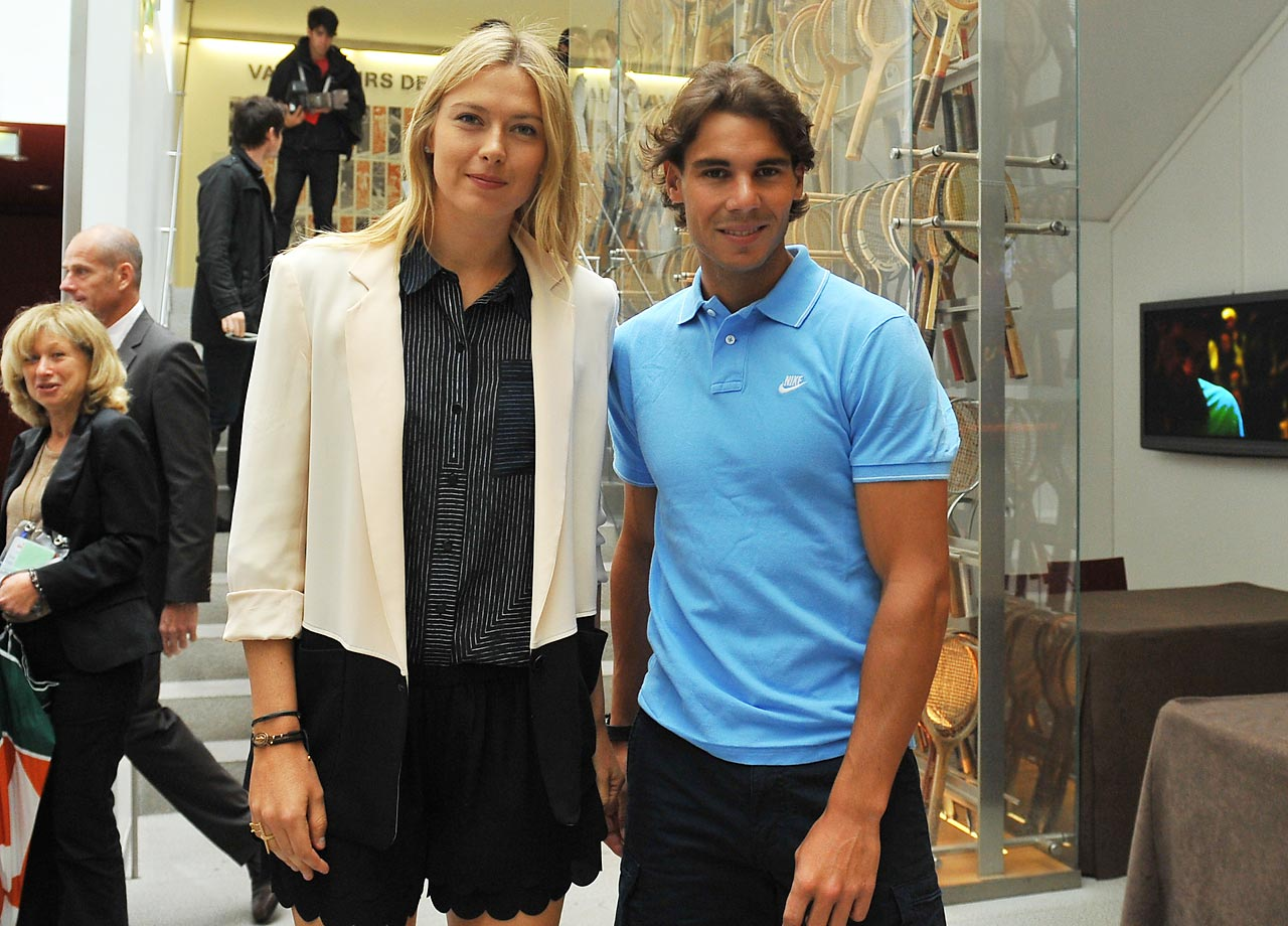 Sharapova and Rafael Nadal returned to Paris this year to defend their 2012 French Open singles titles.
