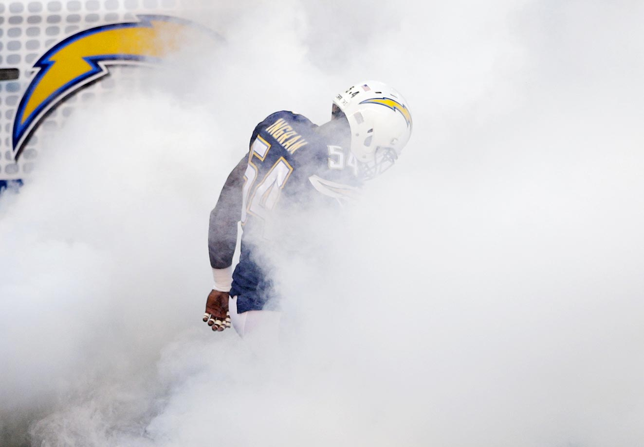 San Diego's linebacker Melvin Ingram takes the field before playing the Dallas Cowboys in a preseason game.