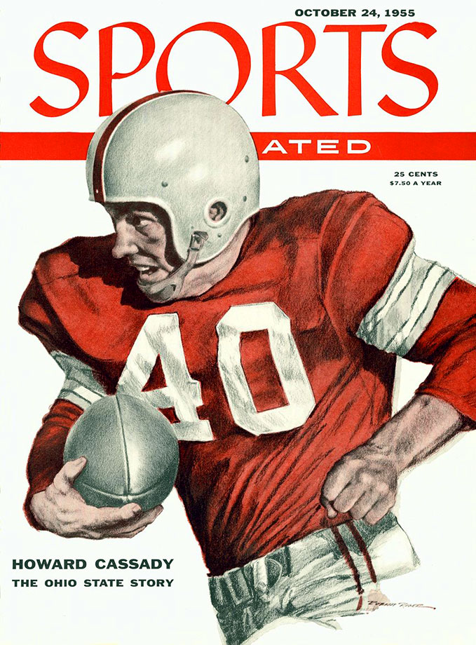 ''Hopalong'' scored 37 touchdowns in 36 games and won the Heisman as a senior in 1955, the same year he was chosen Athlete of the Year by the Associated Press. The nickname came after his first game at Ohio State, when sportswriters who saw him play said he ''hopped all over the field like the performing cowboy,'' a reference to Hopalong Cassady. — Runner-up: Elroy Hirsch, RB, Wisconsin (1942)