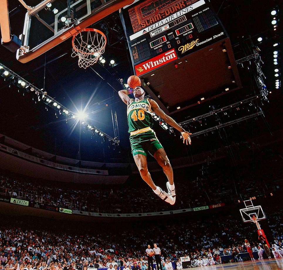 Kemp quickly became one of the NBA's most exciting players and finished a six-time All-Star, his one-two punch with Gary Payton remaining one of the league's more iconic pairings. At his best, he was a double-double machine and effective shot-blocker, threat to dunk on his defender and anchor for the Sonics on the way to the '96 NBA Finals, where they'd fall to Jordan, Pippen and the Bulls. —Runner-up: Bill Laimbeer