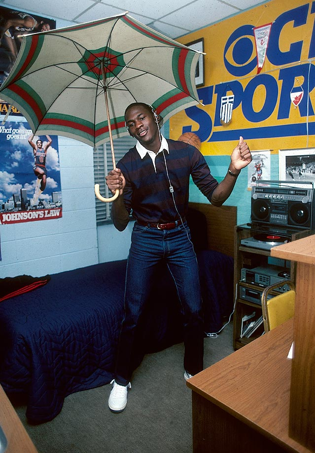 As a 20-year-old Tar Heel, Michael Jordan had yet to find his swagger. Considering how far he's come, this photo should inspire dweeby college kids everywhere to keep chasing their dreams.
