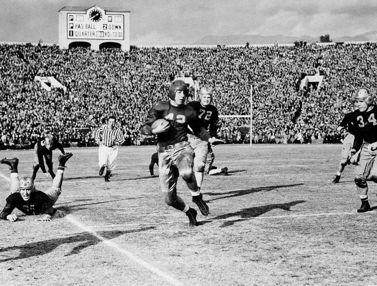Goldberg was an All-America in 1937 (Pitt won a national championship that season) and 1938 and led the nation in rushing in 1936. He finished third in the Heisman voting in 1937 and was runner-up in 1938. — Runner-up: Ronnie Lott, S, USC (1977-80)