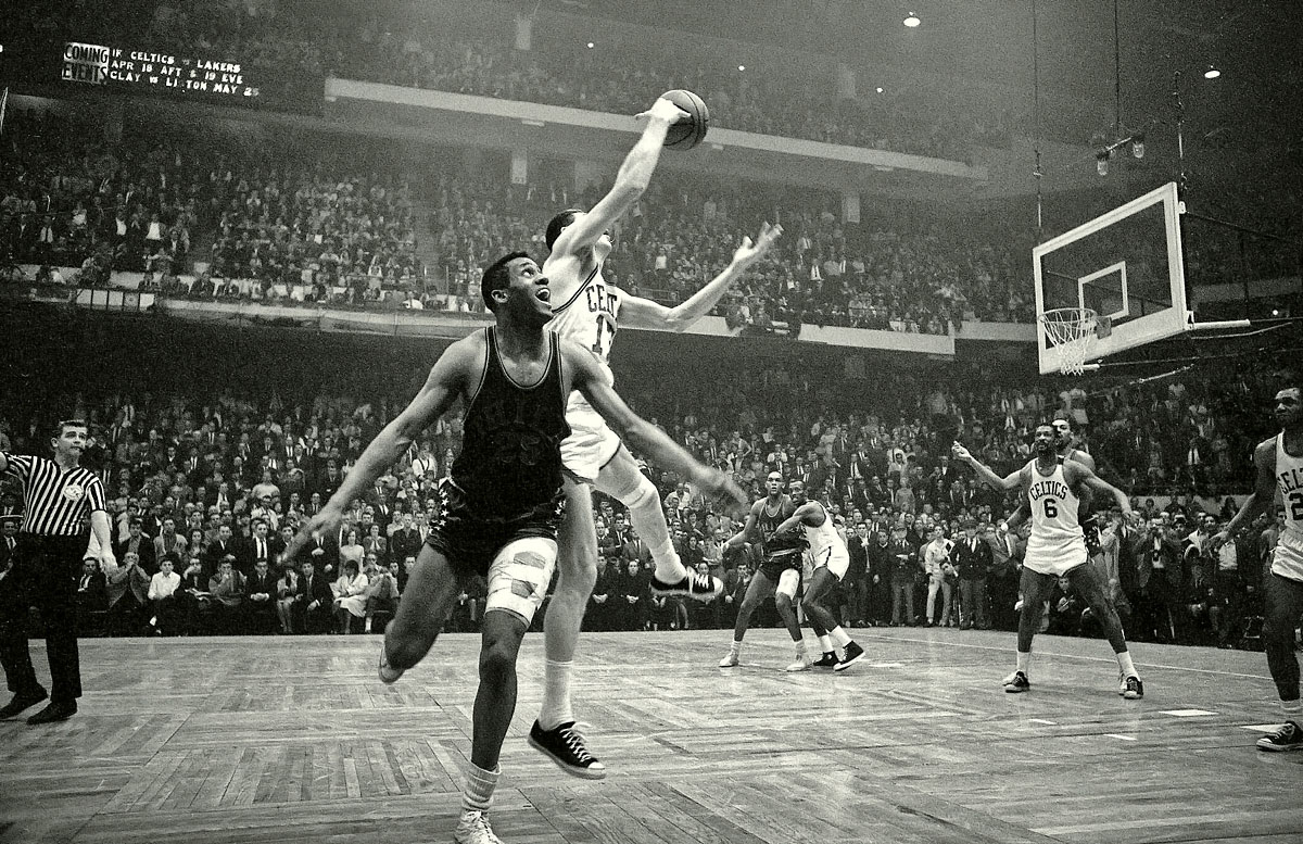 Eastern Conference Finals, April 15, 1965 | Leading 110-109, Boston Celtics guard John Havlicek stole the ball on the inbounds pass from the Philadelphia 76ers to secure the Celtics victory. The Celtics would go on to the NBA Finals, where they would defeat the Lakers in five games.