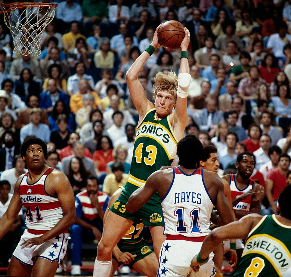 At just 23 years old, Sikma helped the Seattle Supersonics claim their only championship in franchise history, averaging 14.8 points and 11.7 rebounds per game in the 1979 postseason. A seven-time All-Star, Sikma ranks 30th all-time in NBA history in career total rebounds. — Runner-up: Brad Daugherty